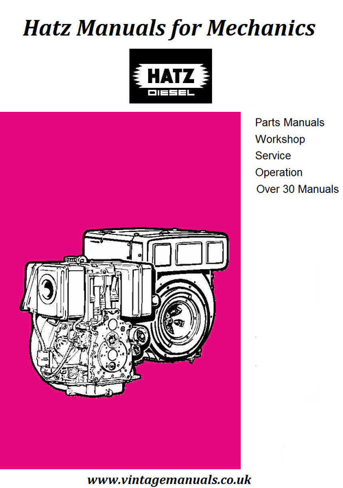 Product picture Hatz Manuals for Mchanics
