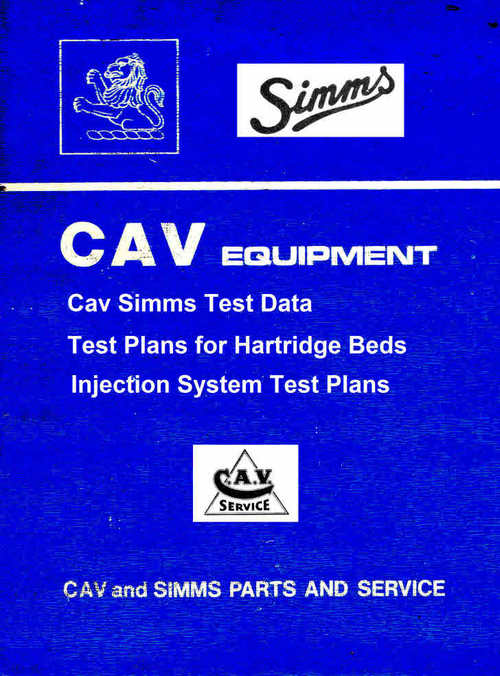 Product picture Cav Test Plans for Hartridge test machines